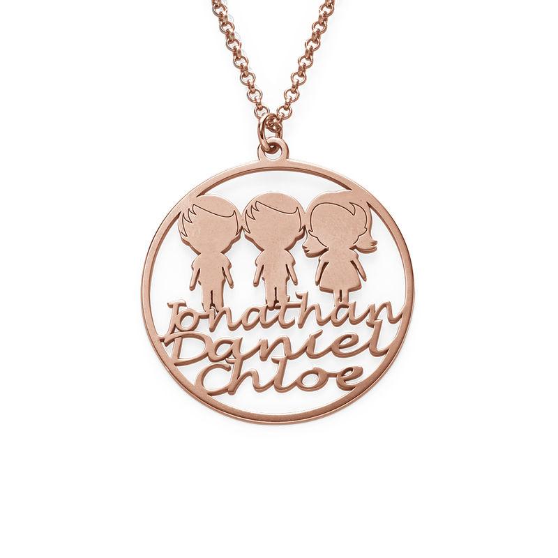 Collana con Cerchio per la Mamma placcata Oro Rosa foto del prodotto