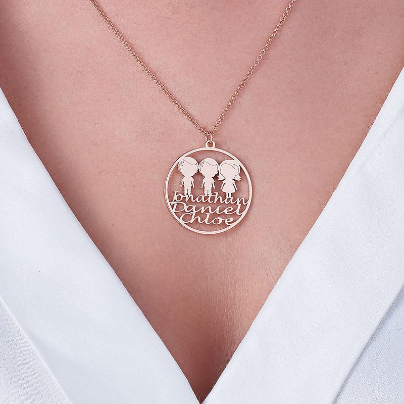 Collana con Cerchio per la Mamma placcata Oro Rosa - 3