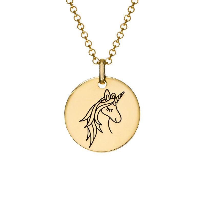 Collana con Ciondolo Unicorno Placcata Oro