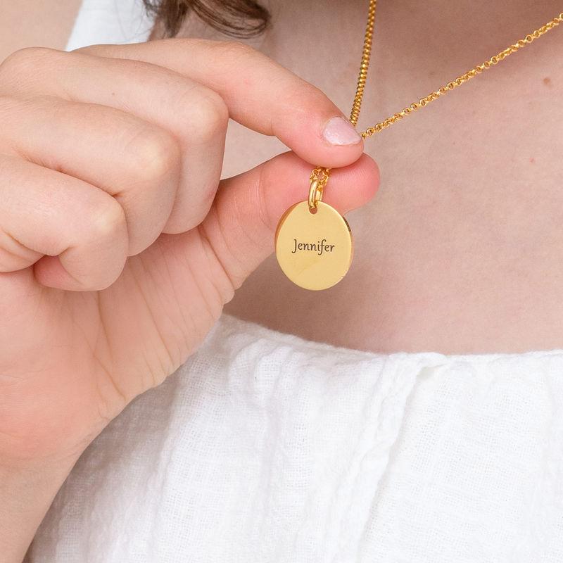 Collana con Ciondolo Unicorno Placcata Oro - 4
