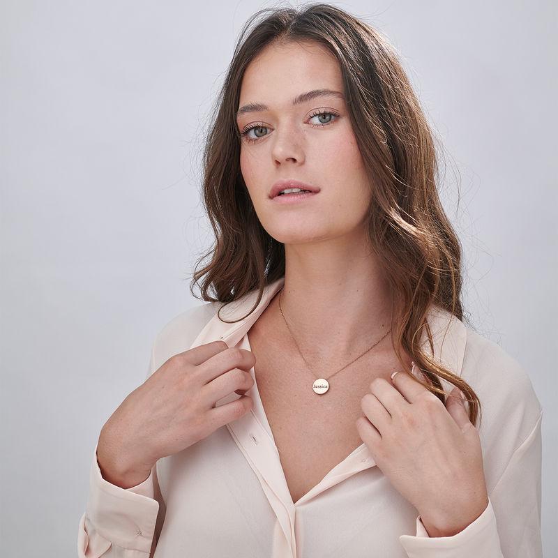Collana con Cerchio Spesso Personalizzata Placcata Oro Rosa - 4