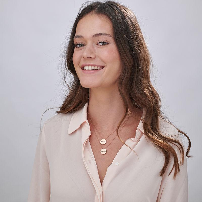 Collana con Cerchio Spesso Personalizzata Placcata Oro Rosa - 6