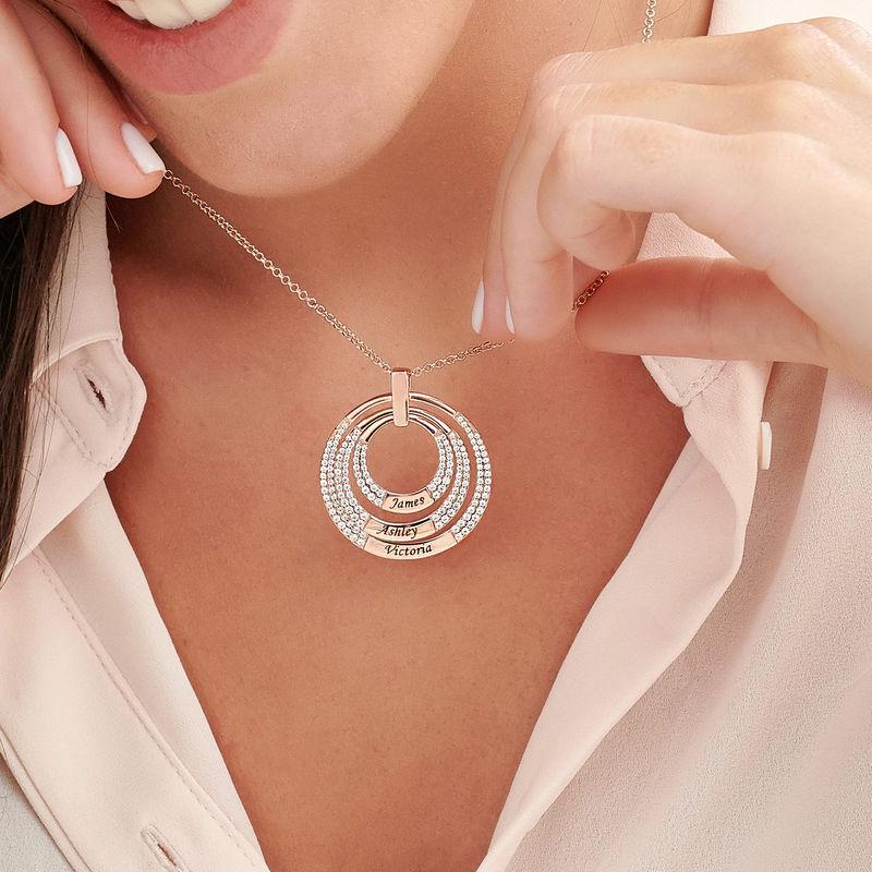 Collana con Cerchio per Mamma Placcata Oro Rosa - 2