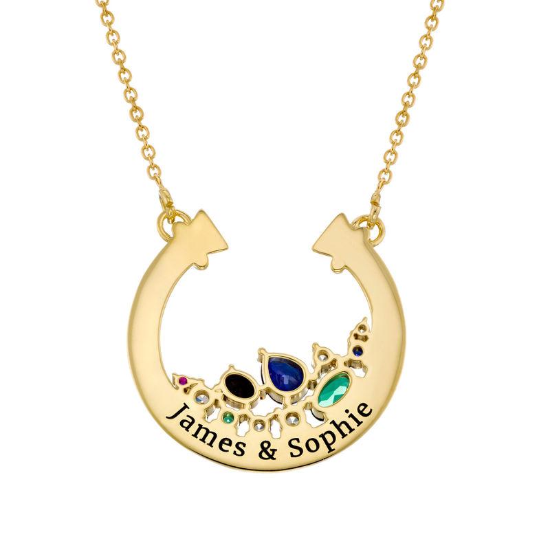 Collana con Cerchio Aperto e Pietre Placcata Oro - 1