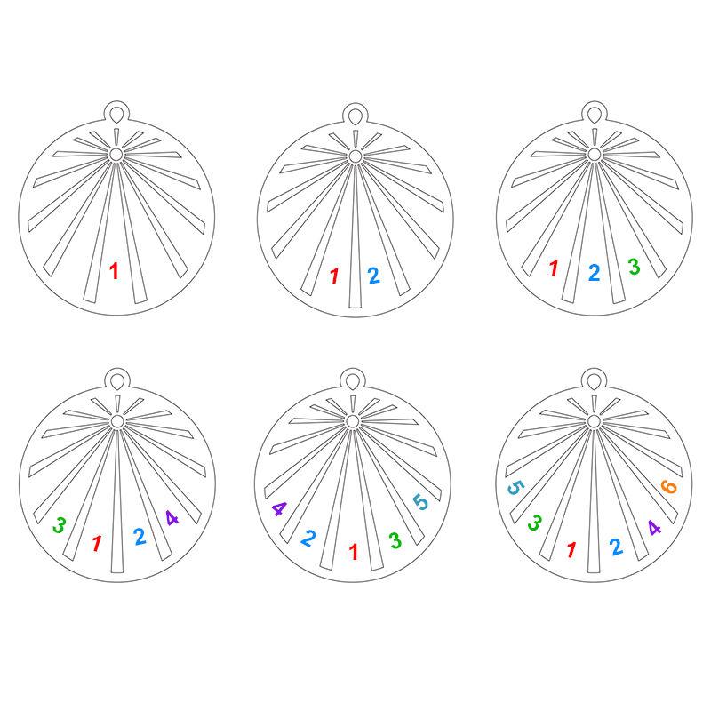 Collana Famiglia Incisa con Cerchio e Diamante in Oro 10K - 3