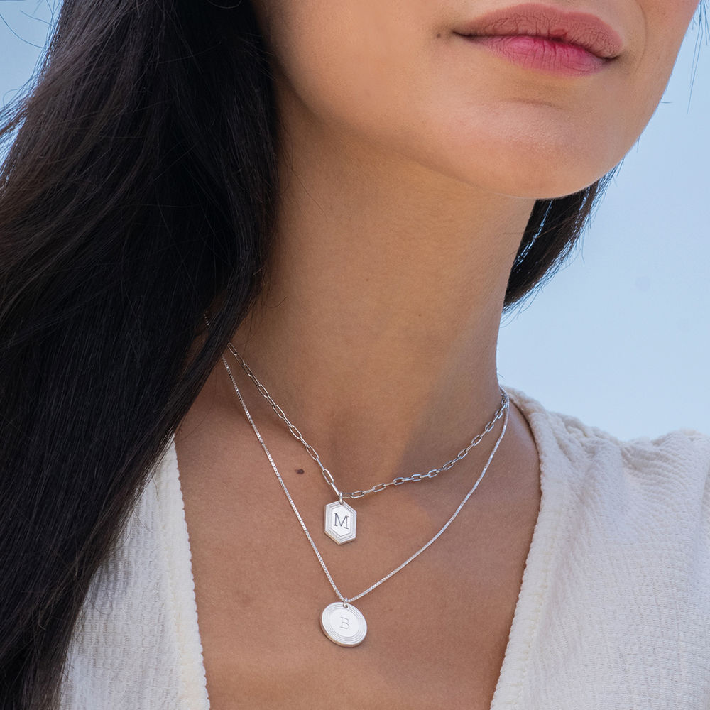 Collana Cupola a Catena in Argento Sterling - 1