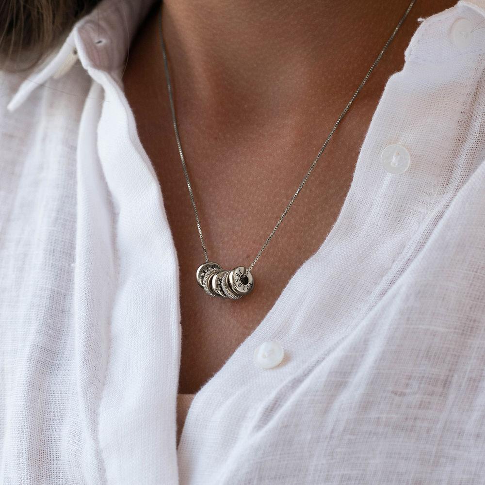 Collana con perline incise personalizzate in argento 925 - 4