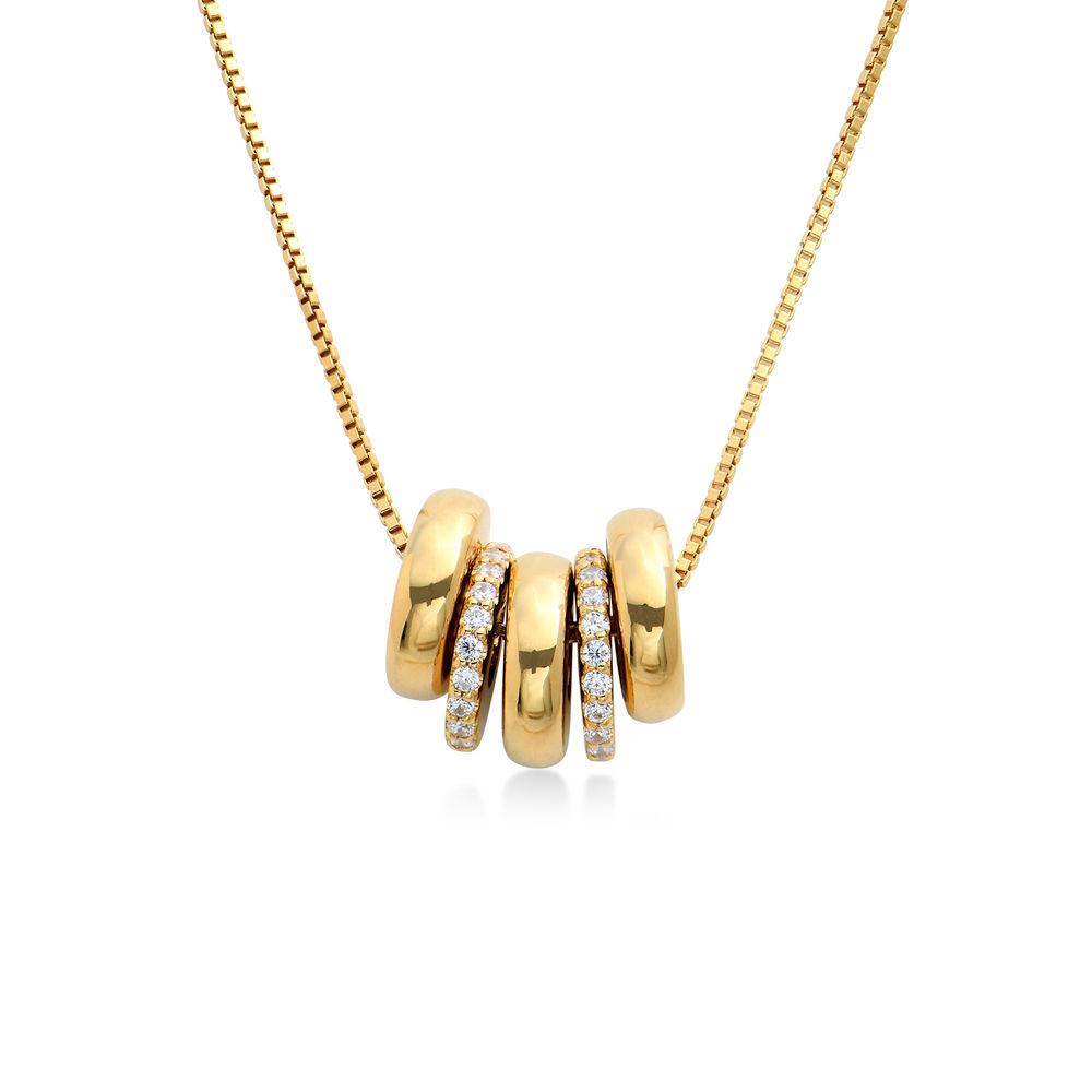 Collana con perline incise personalizzate in Argento 925 placcato oro 18k - 1