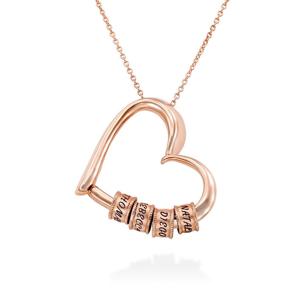Collana Sweetheart con Perline Incise in Argento 925 placcato oro rosa 18k