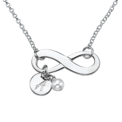 Collana con simbolo dell'Infinito in Argento Sterling product photo