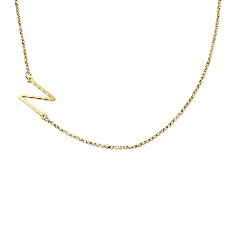 Collana con Iniziale Laterale con Placcatura in Oro 18K product photo