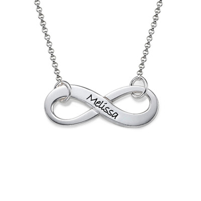 Collana Infinito Incisa in Argento 925 product photo
