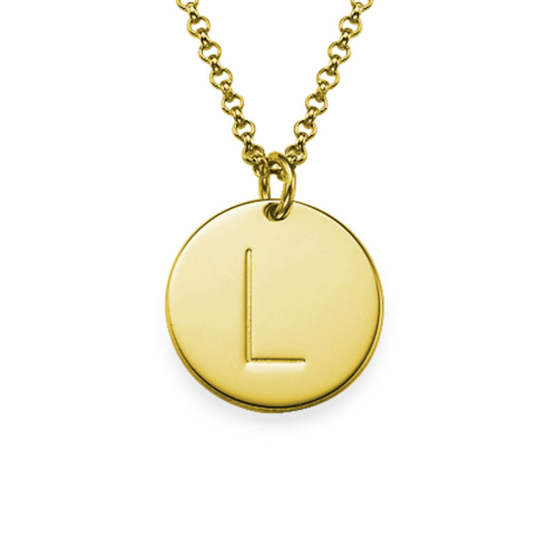 Collana con Iniziale Charm Placcata in Oro - 1