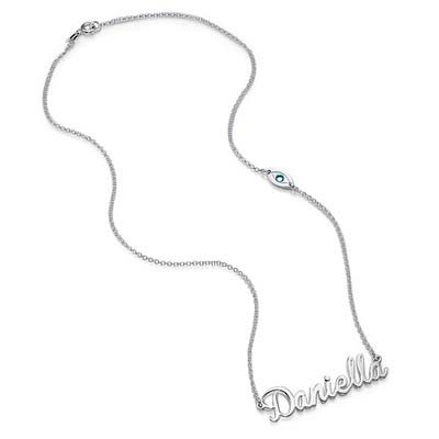 Collana Charm con Nome in Argento Sterling - 1