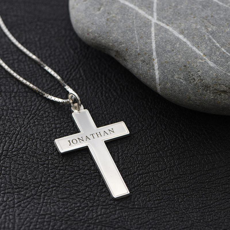 Collana da Uomo con Croce e incisione - 4