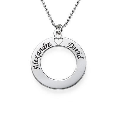 Collana in Argento Cerchio dell'Amore