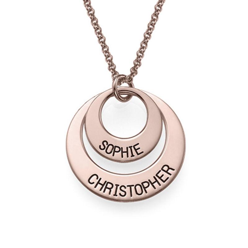 Gioielli per le Mamme – Collana a Disco Placcata in Oro Rosa foto del prodotto