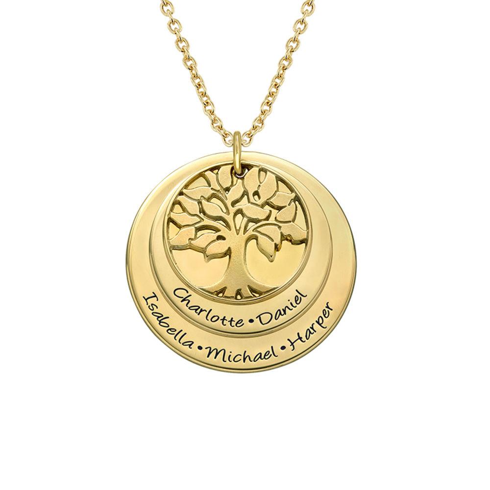 Collana Albero della Vita a strati Placcata in Oro foto del prodotto