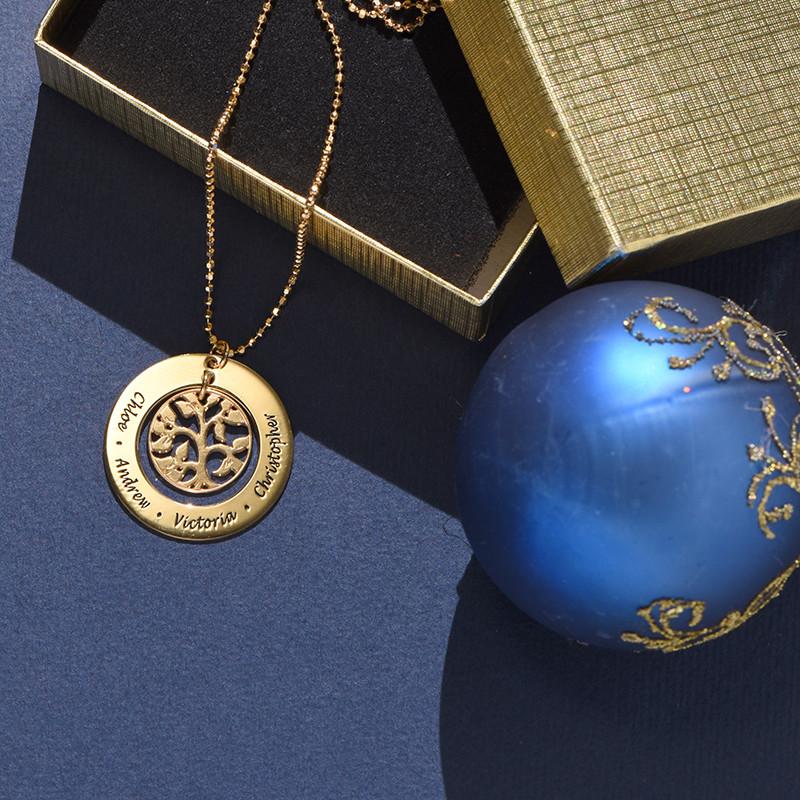 Collana in 18k Oro Placcato con Albero della Vita - 2