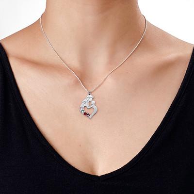 Collana madre e figlio incise in argento - 5