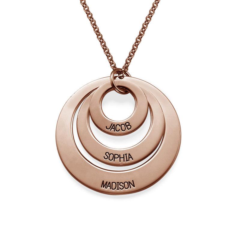 Gioielli per la mamma – Collana a Tre Dischi Placcata in Oro Rosa 18K foto del prodotto