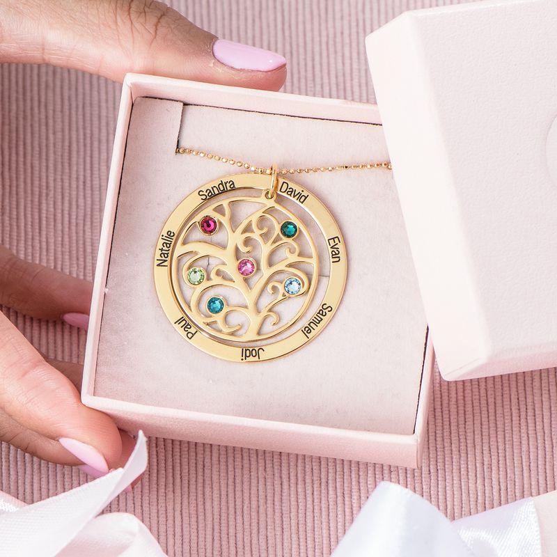 Collana Albero della Vita con Pietre Portafortuna – Oro Placcato 18K - 4