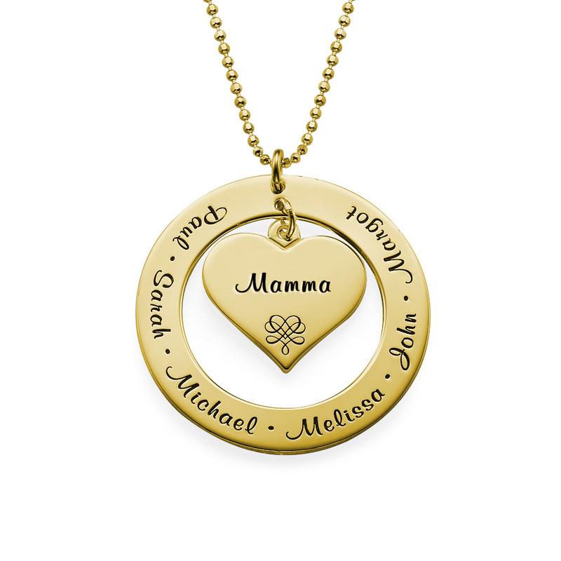 Collana per la Nonna o la Mamma con Nomi - Placcata Oro - 1