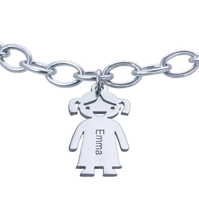"""Braccialetto con pendenti """"bimbi"""" personalizzato in argento 0,925 - 1"""