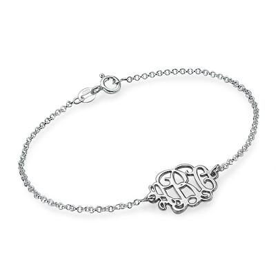 Bracciale / Cavigliera monogramma in puro argento foto del prodotto