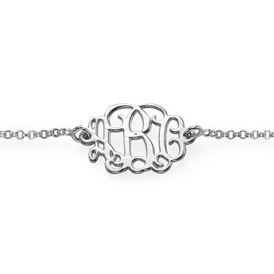 Bracciale / Cavigliera monogramma in puro argento - 1