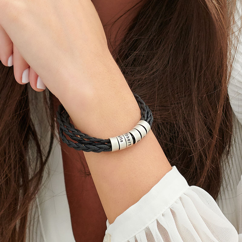 Bracciale da Donna con Piccole Perle Personalizzate in Argento - 2