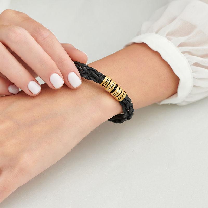 Bracciale da Donna con Piccole Perle Personalizzate Placcato Oro - 3