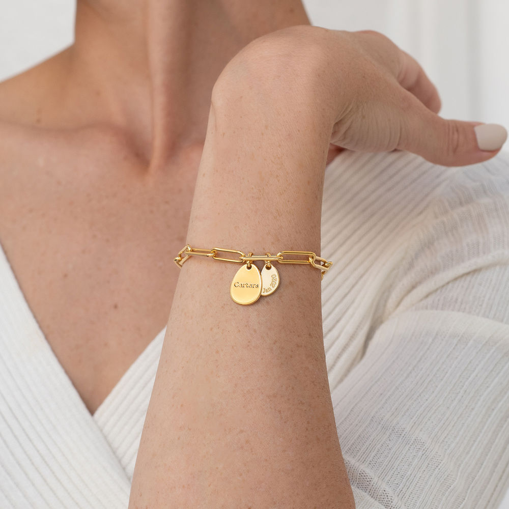 Bracciale Cristina™ a Catena con Ciondoli Personalizzati in Oro 18K - 2