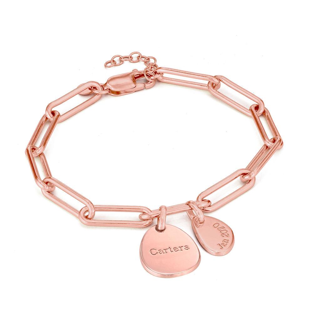 Bracciale Cristina™ a Catena con Ciondoli Personalizzati in Oro Rosa - 1