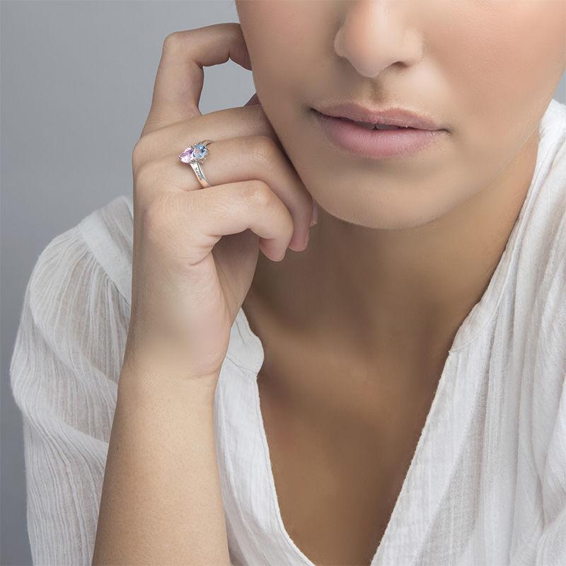 Anello personalizzato in Argento con pietre portafortuna - 2