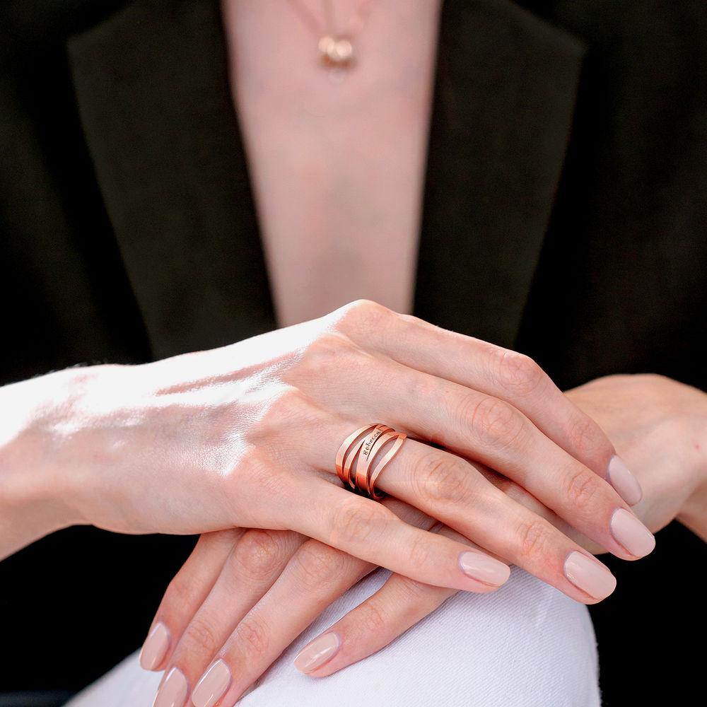 Margeaux Anello in Argento 925 placcato oro rosa 18k - 5