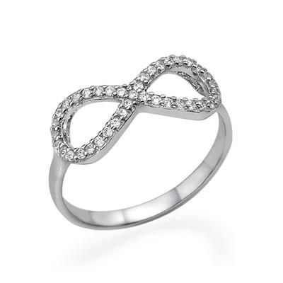 Anello infinito con Zircone Cubico in Argento foto del prodotto
