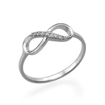 Anello infinito con lo Zircone Cubico in Argento foto del prodotto