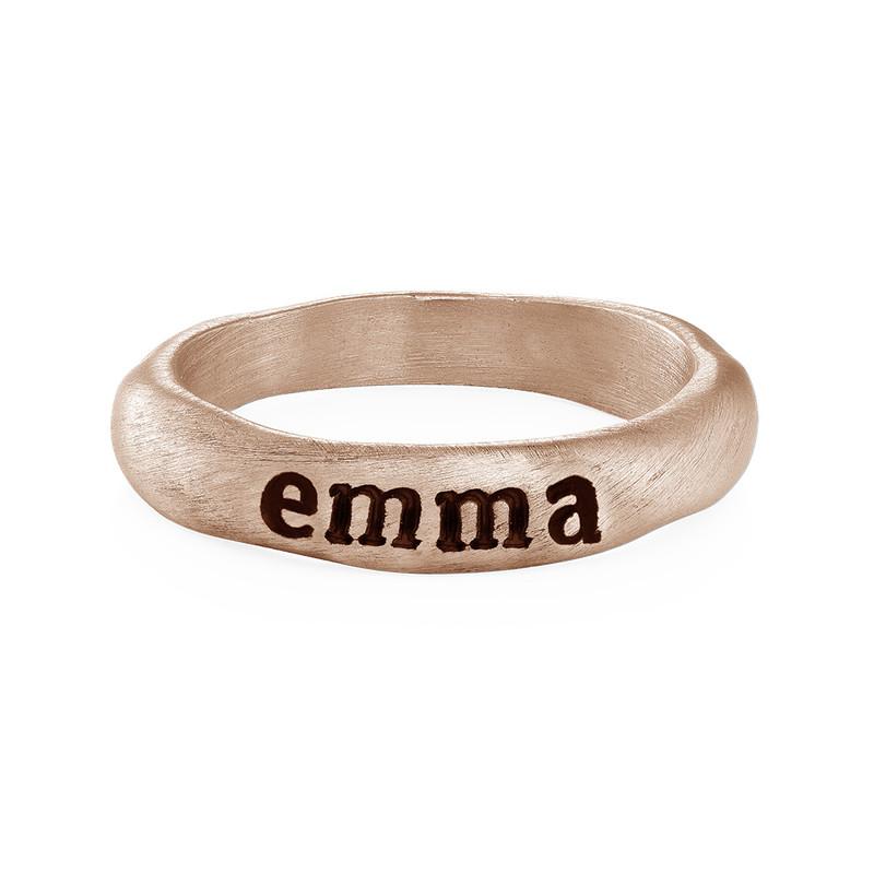 Anello Componibile Martellato Eternity Placcato Oro Rosa foto del prodotto