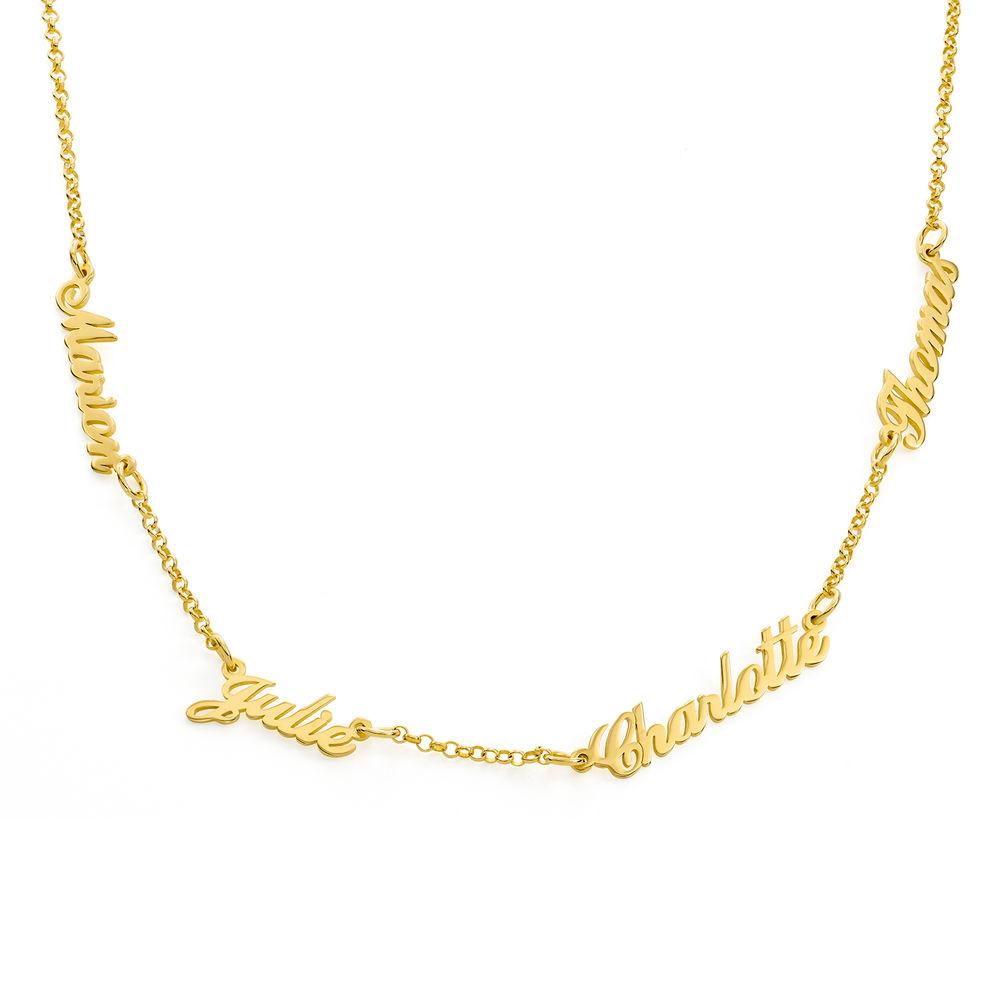 collana con nome multiplo - placcata Oro foto del prodotto