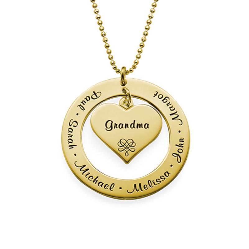 Collana per la Nonna o la Mamma con Nomi - Placcata Oro foto del prodotto