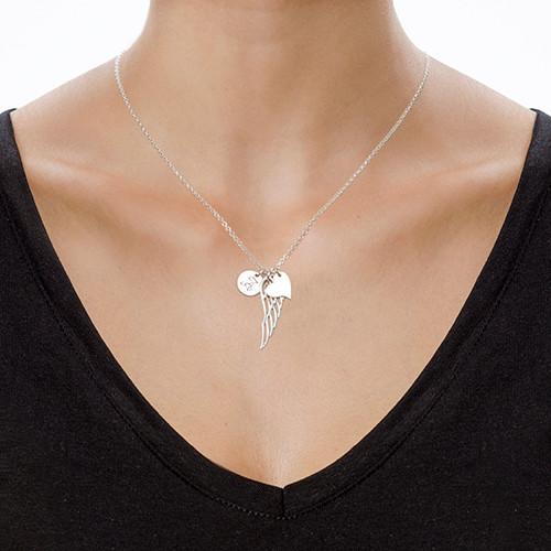 Ali d' angelo personalizzate di argento sterling - 1