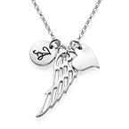 Ali d' angelo personalizzate di argento sterling