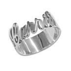 Anello in argento personalizzato con incisione ritagliata