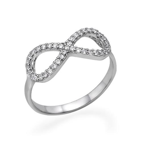 Anello infinito con Zircone Cubico in Argento