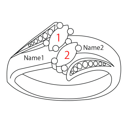 Anello personalizzato con pietre portafortuna - 4