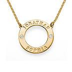 Collana Karma Personalizzata con Cristalli Placcata Oro