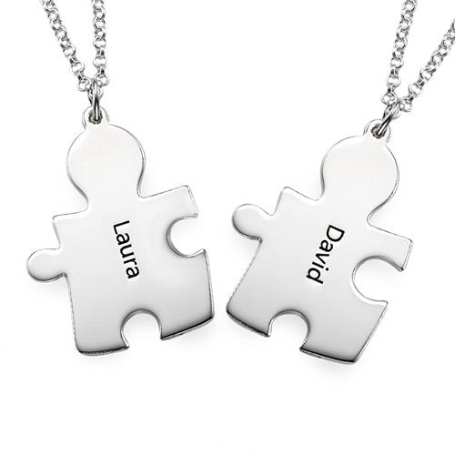 Collana con Puzzle Personalizzato in Argento 925