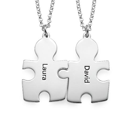 Collana con Puzzle Personalizzato in Argento 925 - 1