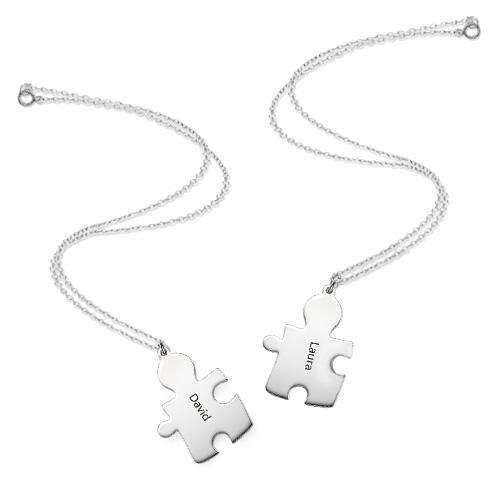 Collana con Puzzle Personalizzato in Argento 925 - 3